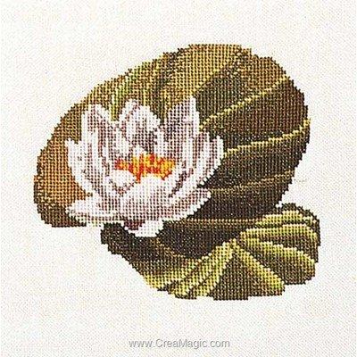 Broderie modele point de croix Thea Gouverneur water-lily sur aida