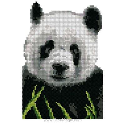 Mini point de croix en kit panda - Luc Création