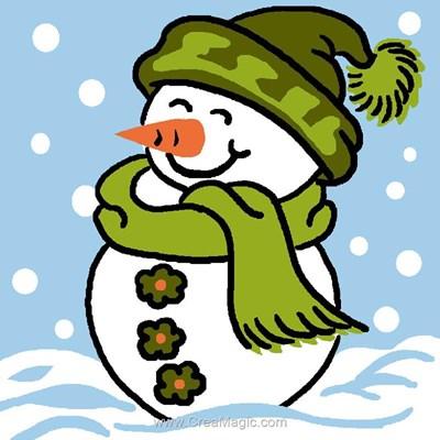 Kit canevas débutant bonhomme de neige de Luc Création