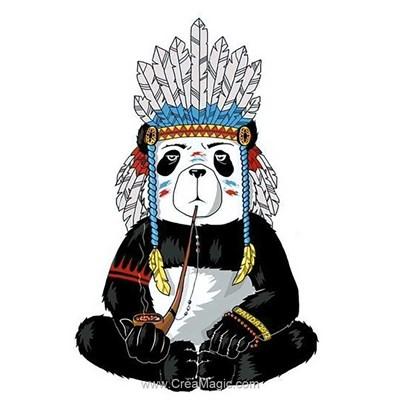 Broderie diamant hippie panda de Wizardi