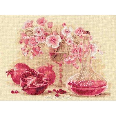 Modèle broderie pomegran rose - RIOLIS