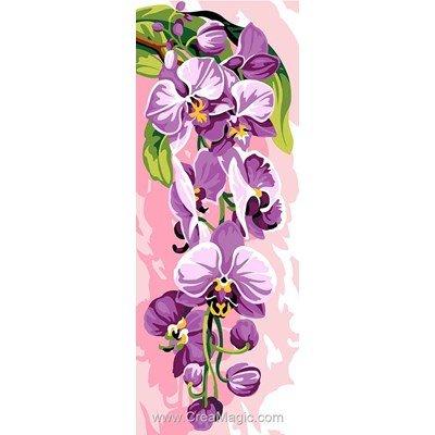 Orchidée violette canevas chez SEG