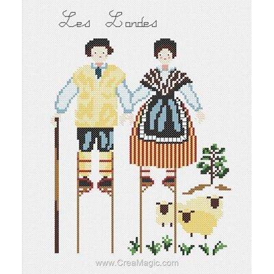 Kit de broderie imprimée costumes traditionnels des landes de Marie Coeur