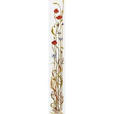 Modèle broderie au point de croix Thea Gouverneur poppy bell pull sur lin