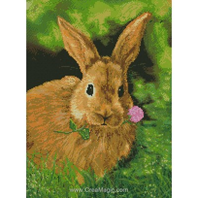 Broderie diamant rabbit - Diamond Painting