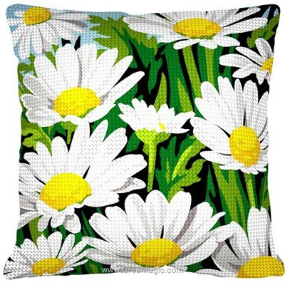 Kit coussin au demi point SEG tendres marguerittes
