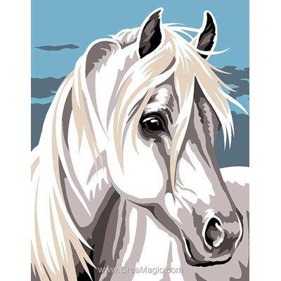 Kit canevas Margot pour enfants nostalgie cheval blanc