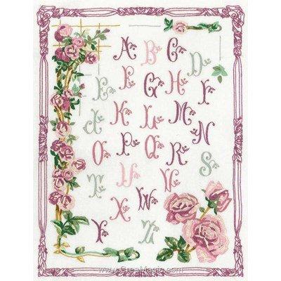 Broderie imprimée en kit abc aux roses de Princesse