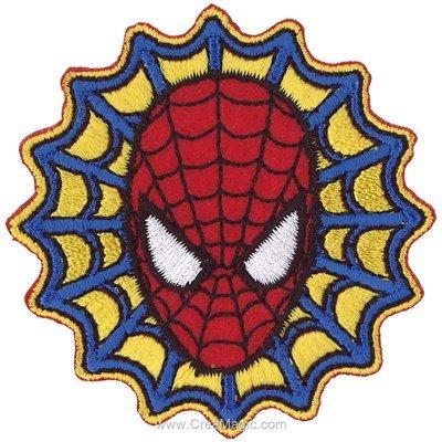 Ecusson brodé thermocollant spiderman portrait dans la toile - MLWD
