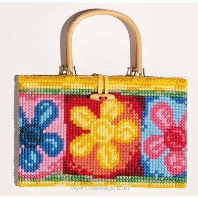Kit sac Vervaco à broder multi fleurs