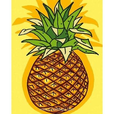 Kit canevas enfant ananas de Luc Création