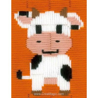 Kit canevas point lancé vache tachée - Vervaco