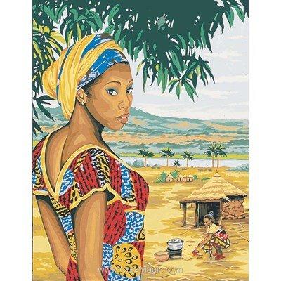 Femme d'afrique canevas chez Margot