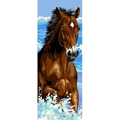 Canevas Margot eclaboussures du cheval galopant