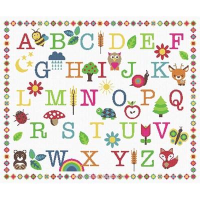 Abc coloré petite forêt kit broderie point de croix - Princesse