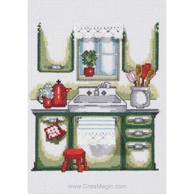 Kit tableau point de croix kitchen - cuisine - Permin