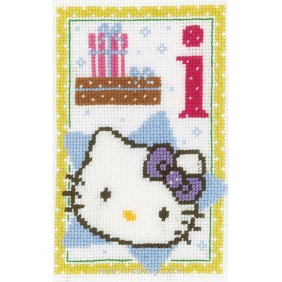 Hello kitty lettre i kit broderie de Vervaco au point de croix