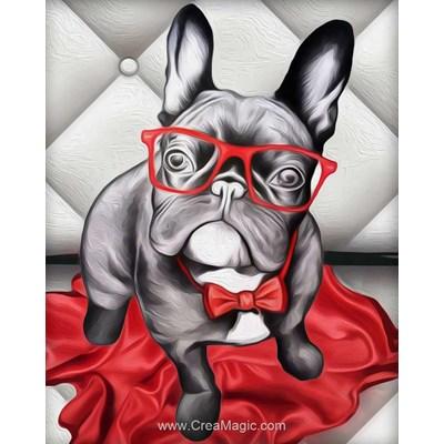 Kit broderie diamant Diamond Painting stylish bulldog
