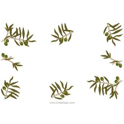 Napperon à broder Luc Création olivia à broder en point de broderie