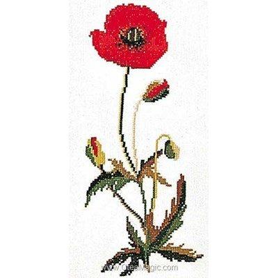 Modèle Thea Gouverneur au point de croix poppy sur aida