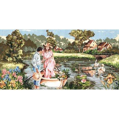 Canevas berge romantique - SEG