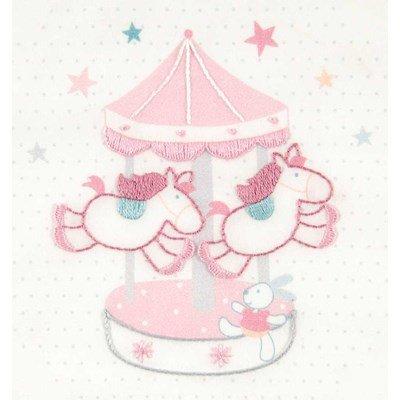Broderie imprimée en kit carrousel -baby stars de DMC