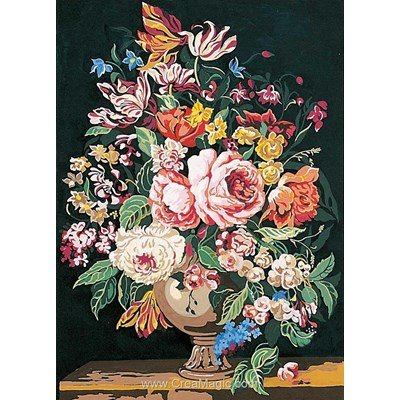 Canevas le vase de fleurs de SEG