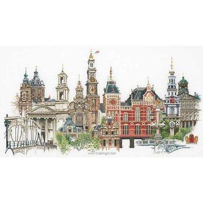 Amsterdam sur aida broderie au point de croix compté - Thea Gouverneur