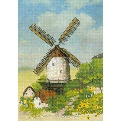 Moulin dans la campagne kit à broder - RIOLIS