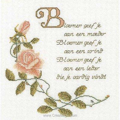 Tableau broderie point de croix poem sur lin de Thea Gouverneur