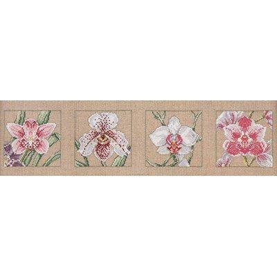 Broderie quatre orchidees de Permin