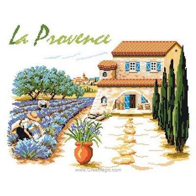 Luc Création modèle au point de croix maison de provence