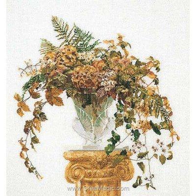 Broderie au point de croix compté Thea Gouverneur autumn sur lin