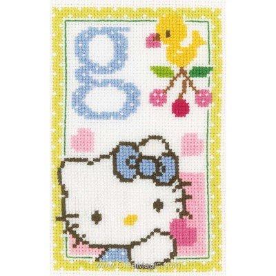 Kit à broder point de croix hello kitty lettre g de Vervaco