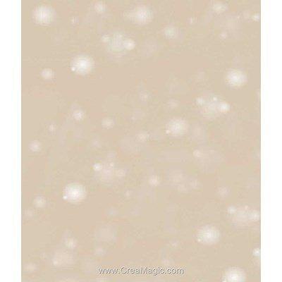Toile aida 7.1 pts imprimée neige or de Brod'star