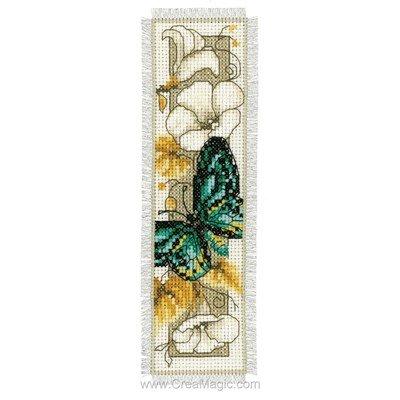 Marque-pages à broder papillon d'automne 2 Vervaco