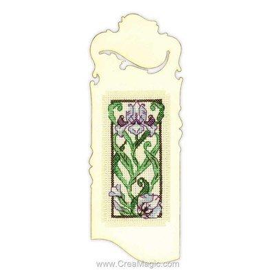 Blooming iris broderie au point de croix point compté - RIOLIS