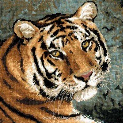 Modèle broderie RIOLIS tigre de la sibérie