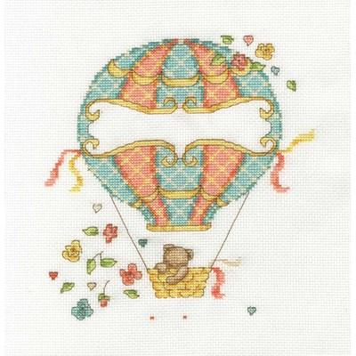 Kit broderie tableau prénom DMC la montgolfière de bébé - collection bébé