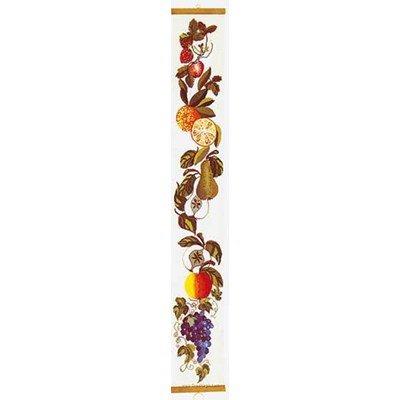 Modèle broderie point de croix fruit bell pull sur lin de Thea Gouverneur