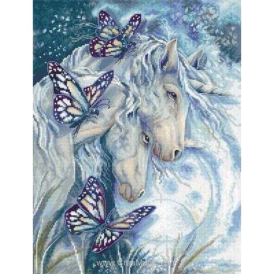 Kit duo de licornes blanches et papillons - LETISTITCH