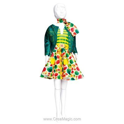 Couture set lucy green DRESS YOUR DOLL pour barbie