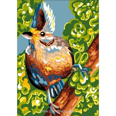 Drôle d'oiseau canevas chez Luc Création