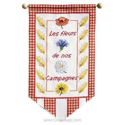 Bannière à broder fleurs des compagnes - Princesse