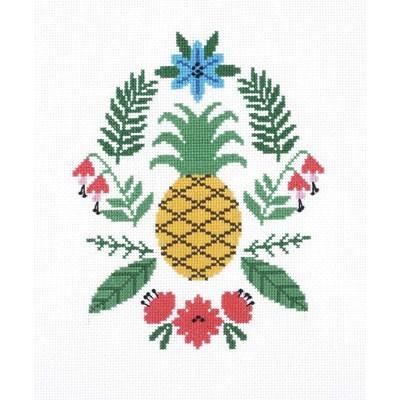Modèle au point de croix ananas de DMC