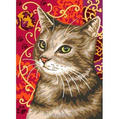 Le chat baroque rouge canevas de Margot