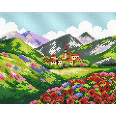 Kit broderie diamant beauty of mountains - Diamond Painting