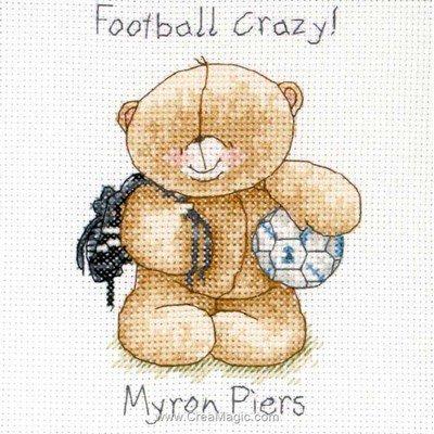Broderie point de croix football crazy - Anchor