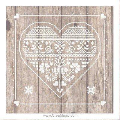 Tableau coeur sur lambris kit tableau point de croix - Princesse