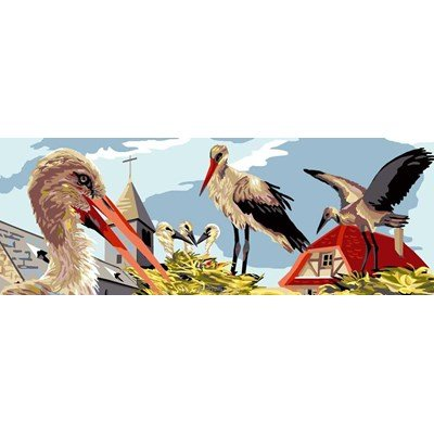 Luc Création canevas le nid des cigognes